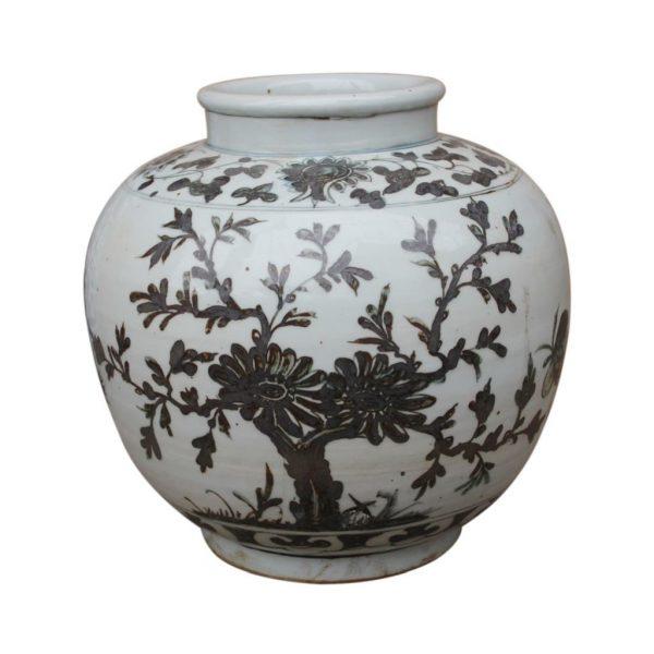 Yuan Flower Bird Jar