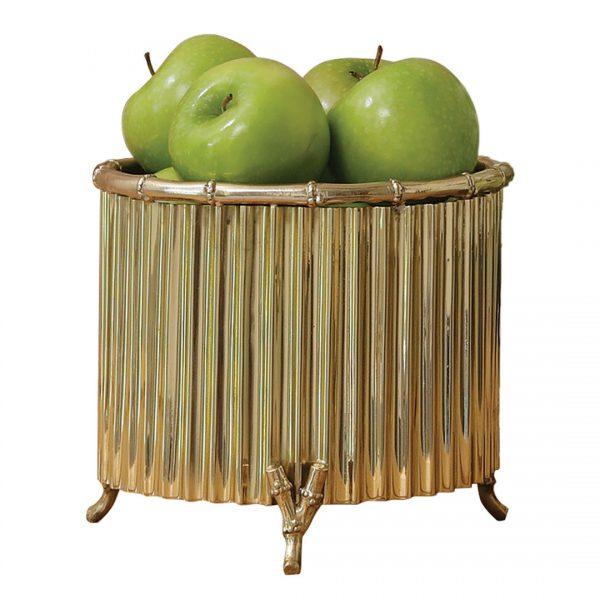 Bamboo Brass Cachepot Small