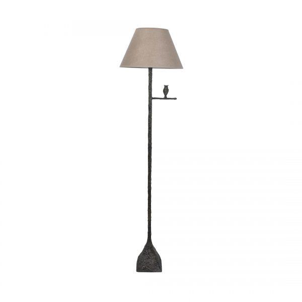 Bronze Owl Standing Lamp