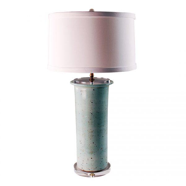 Celadon Beaker Vase Lamp