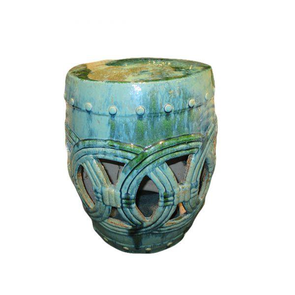 Large Circle Garden Stool-Turquoise