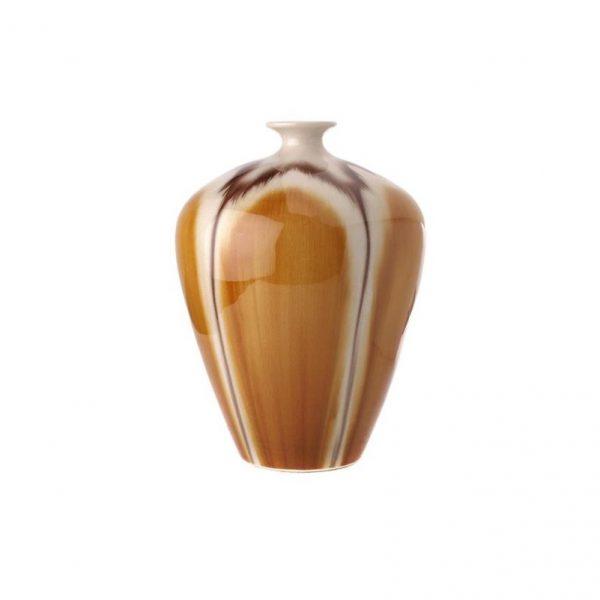 Reactive Round Glazed Vase