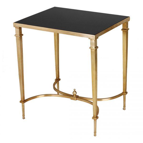 Sofia Rectangular Side Table in Brass