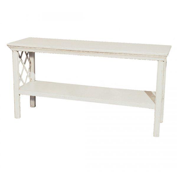 Trellis Sofa Table in Off-White