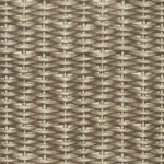 Basket Weave – Brown on Ecru