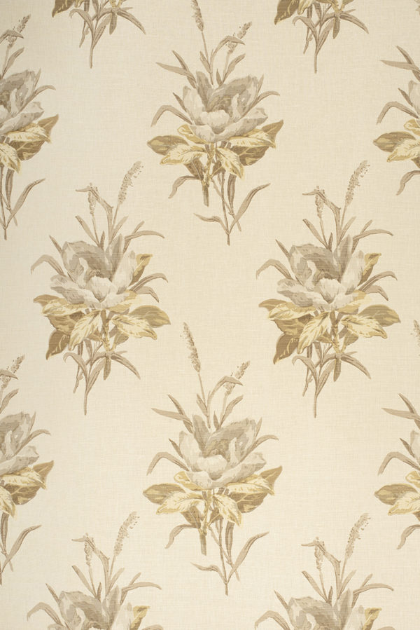 Melba Flower – Grey on Ecru