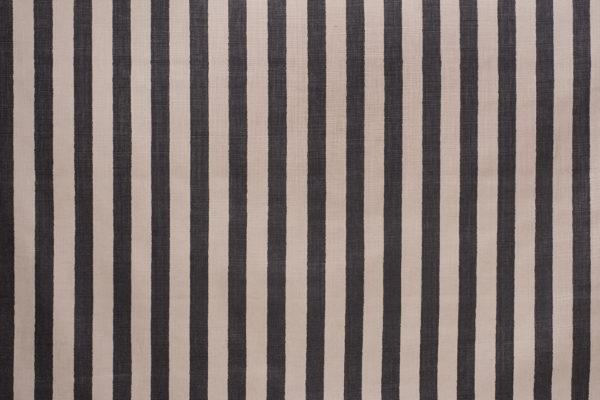 Melba Stripe – Black on Brittany Glazed Linen Osiris