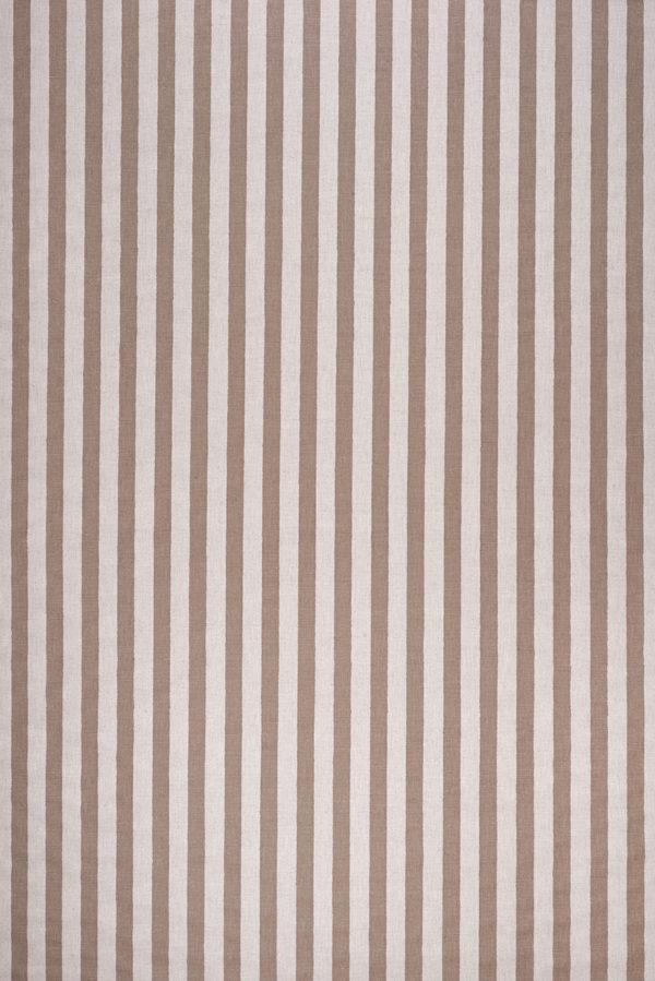 Melba Stripe – Faded Brown on Ecru