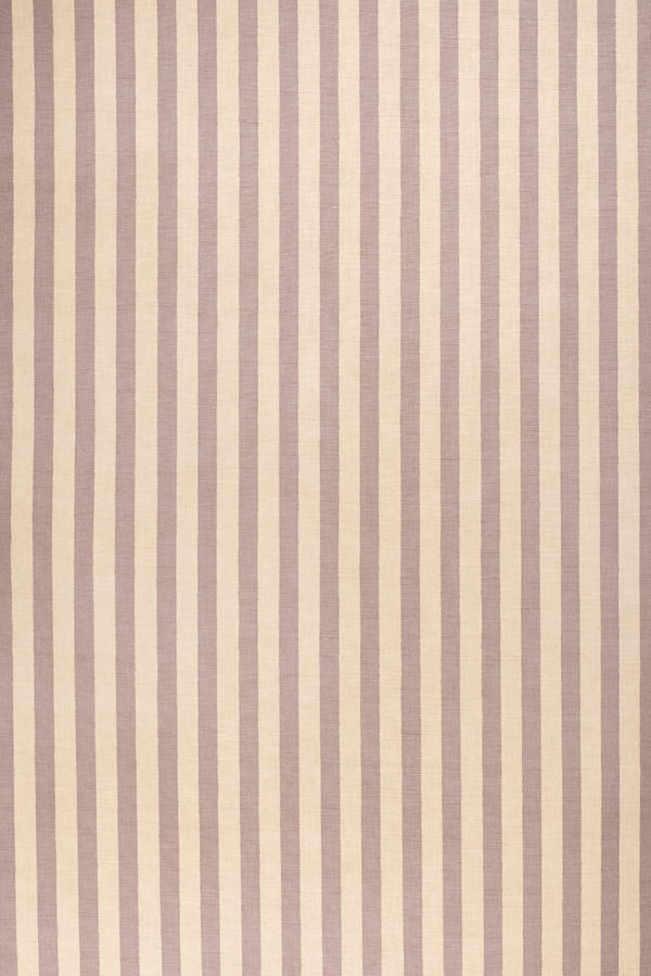 Melba Stripe – Plum on Ecru