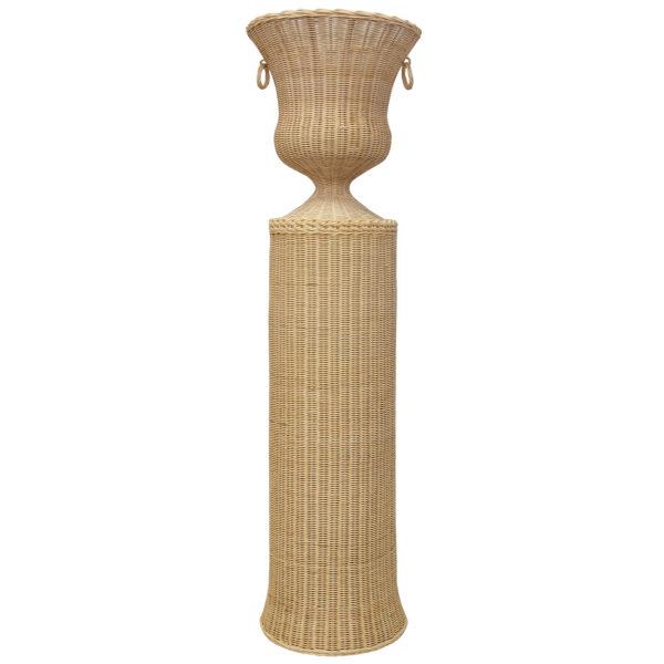 Rotin Rattan Column with Urn