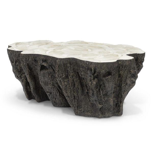 Chloe Fossil Clam Lava Coffee Table