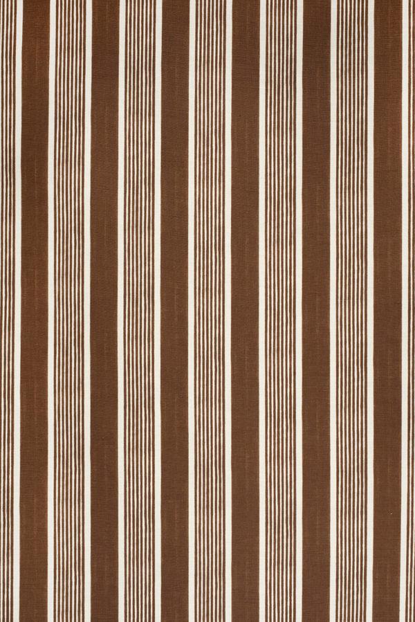 Elba Stripe – Brown on White