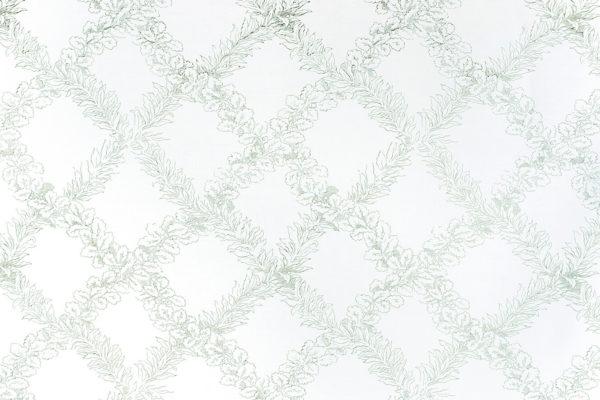 Leaf Trellis – Celadon on White
