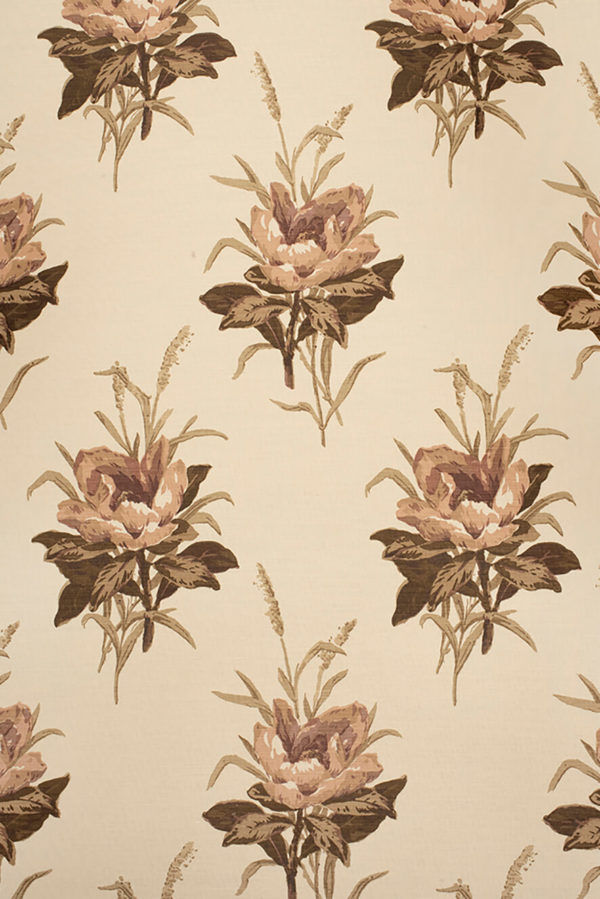 Melba Flower – Plum on Ecru