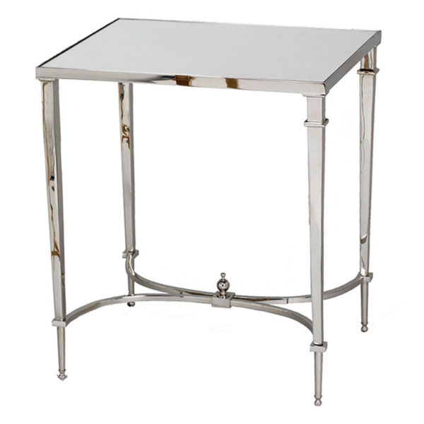 Sofia Rectangular Side Table – Nickel