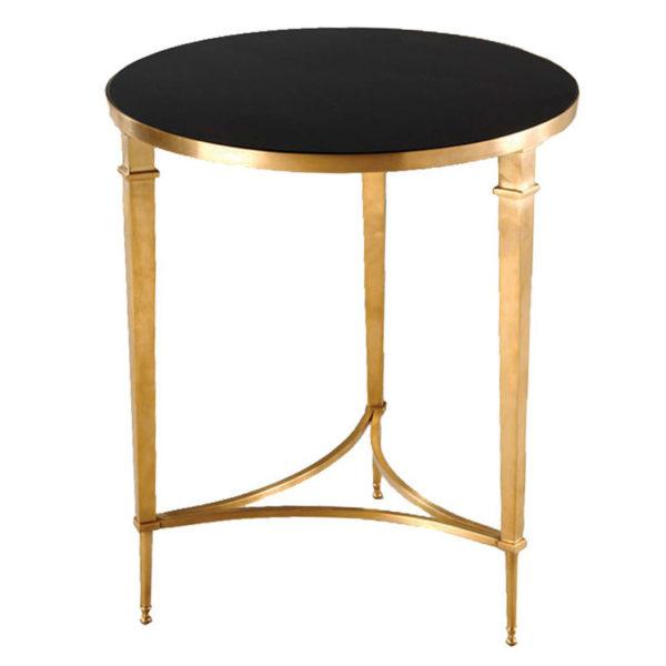 Sofia Round Side Table – Brass