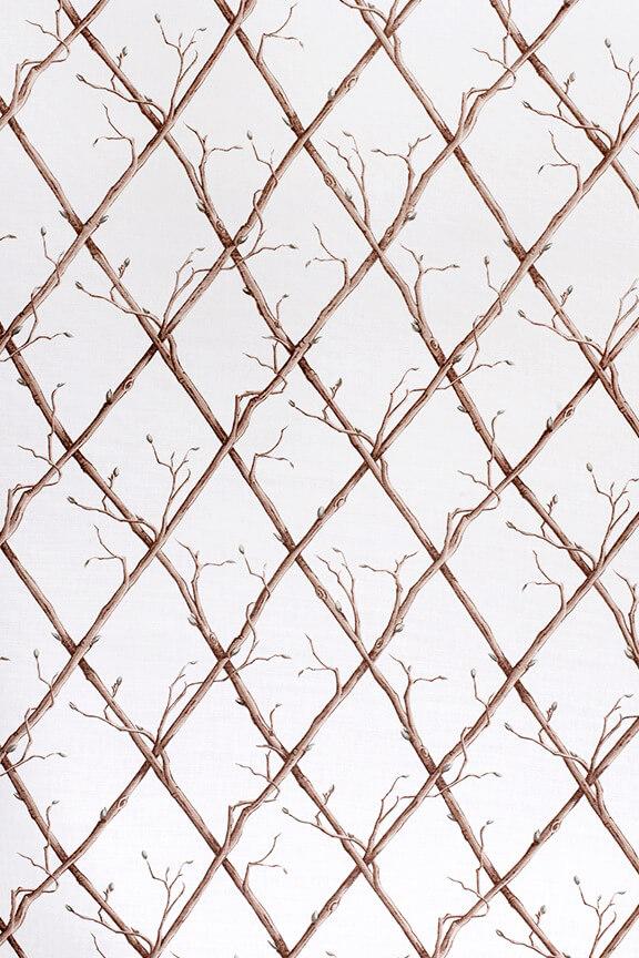 Twig Trellis – Brown on White