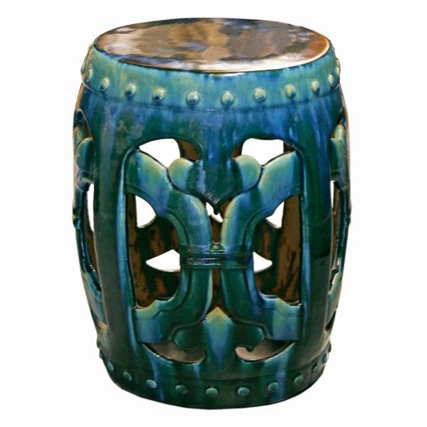 Round Garden Stool – Turquoise WS