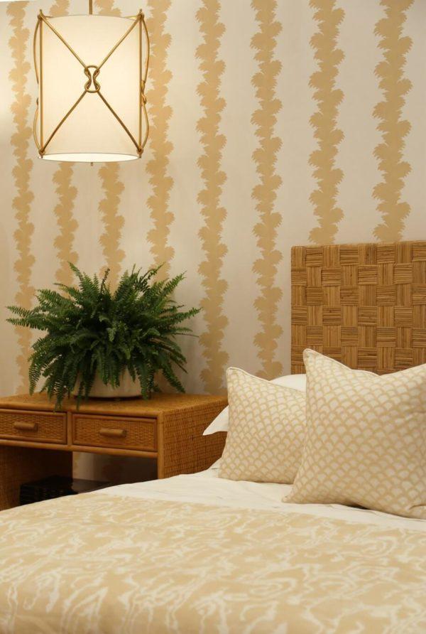 Vignette.Palmyra Vanilla. Riviere Vanilla. Roche Vanilla.Cubo Bed.Sandy Bedside Table