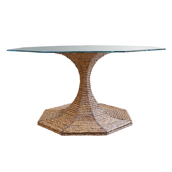 Bamboo Octagonal Table WS (2)