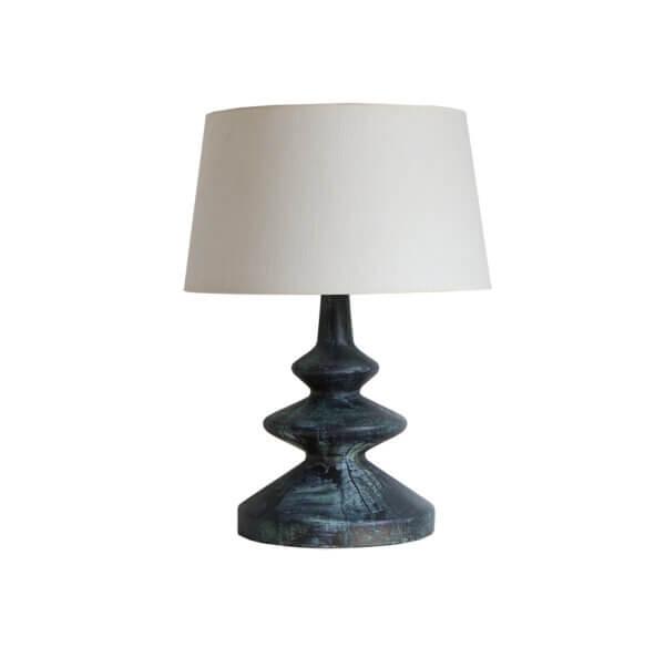 Frank Table Lamp – Bronze Verdigris Cut Out WS