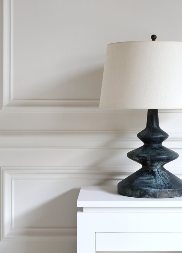 Frank Table Lamp – Bronze Verdigris Detail 1 WS
