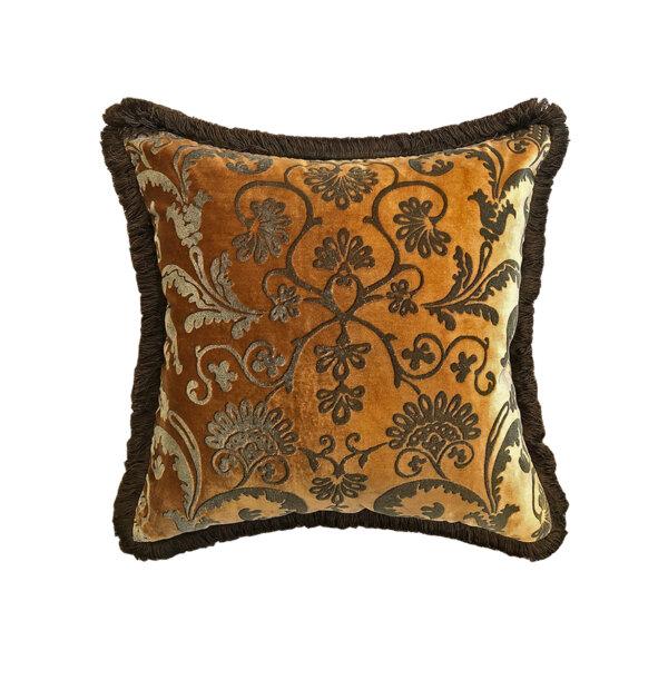 Silk Velvet Cushion – Bronze WS