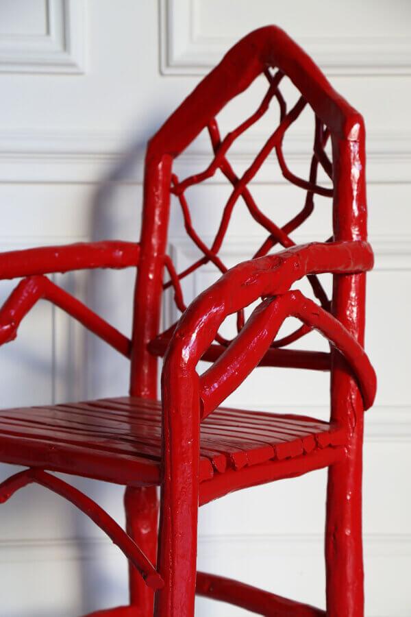 Stephan Armchair, Coral Red – WS closeup.vignette