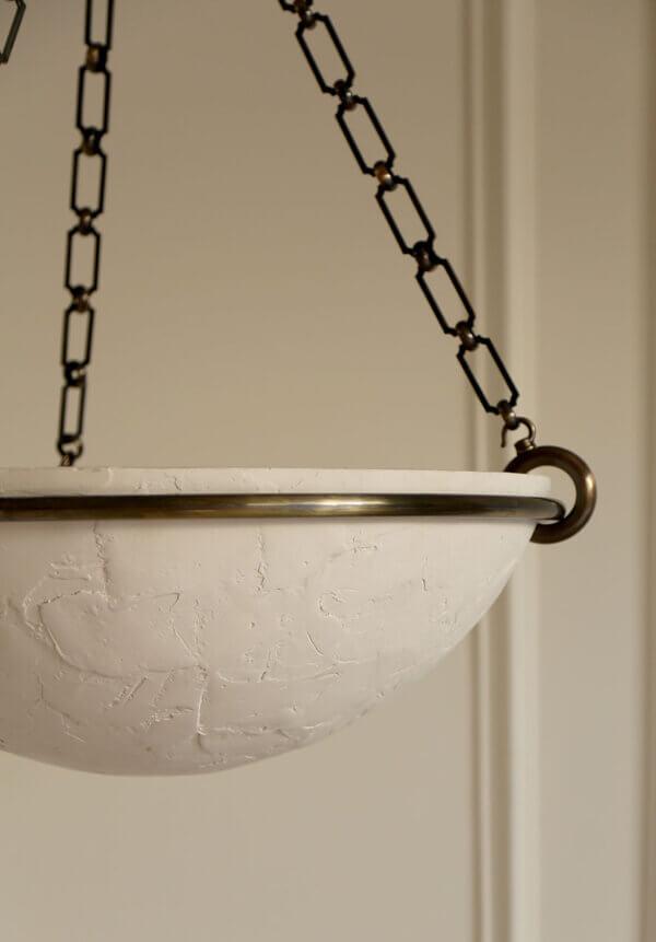 Milan Chandelier Bronze_White Plaster Detail LR